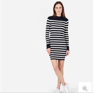 {EVERLANE} Breton Ribbed Cotton Sweater Dress